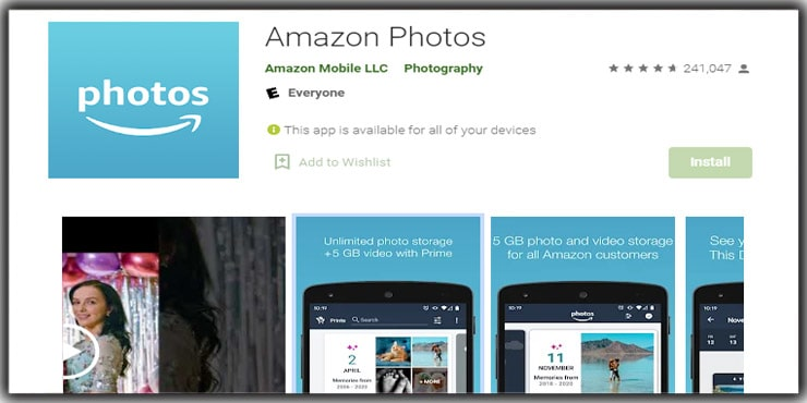 Photo Storage App Amazon Prime Photos