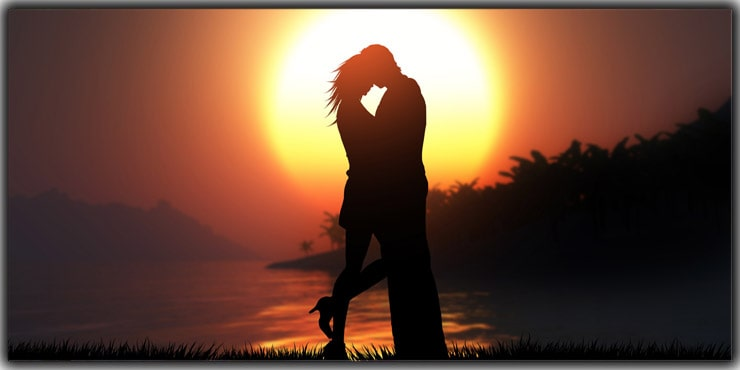 Sunset Silhouette Couple Poses