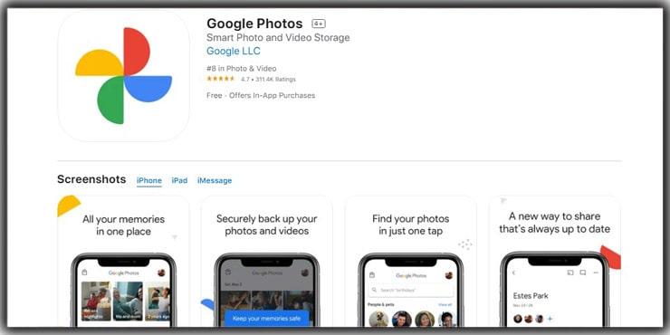 best photo storage app Google Photos