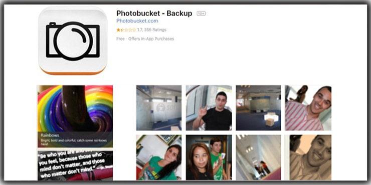 photo storage app Photobucket