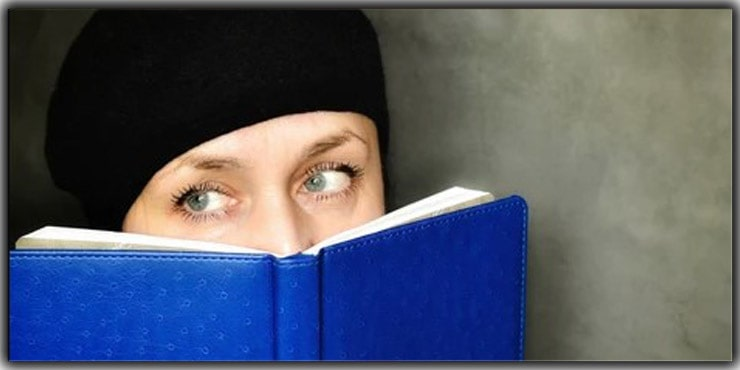Cover Your Face Partially with Books